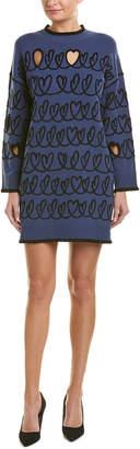 Fendi Cutout Wool-Blend Sweaterdress