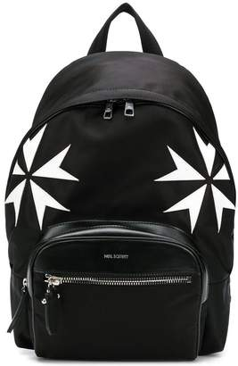 Neil Barrett military star print backpack