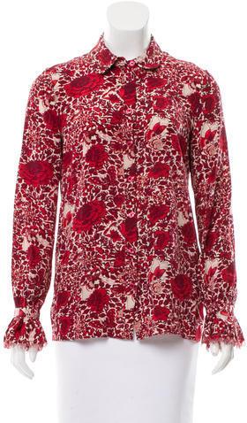 Tory BurchTory Burch Silk Button-Up Top