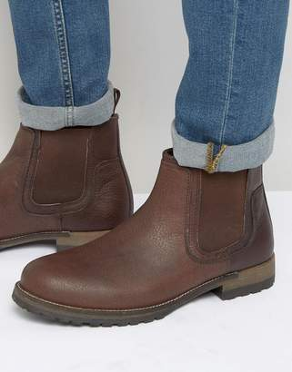 Red Tape Chelsea Boots Brown Leather