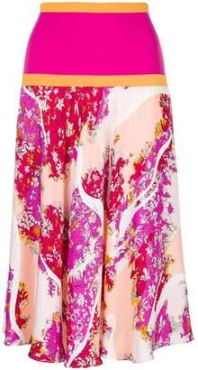 Emilio Pucci (エミリオプッチ) - Emilio Pucci floral midi skirt