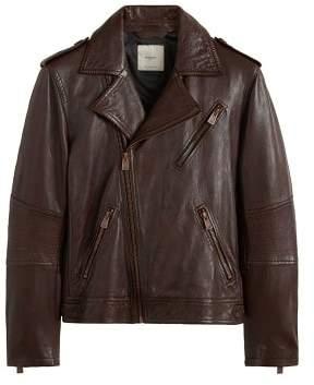 Mango Man MANGO MAN Leather biker jacket