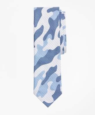 Brooks Brothers Camo-Print Striped Cotton Tie