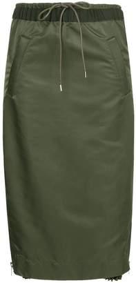 Sacai elasticated waist skirt