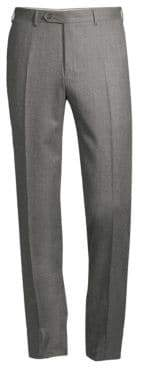 Canali Regular-Fit Wool Flannel Trousers