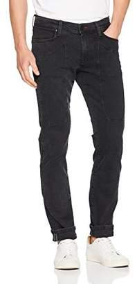 Jeckerson Men's 5Pkts Patch Low Full DNM 11 Oz Slim Jeans, (Black Rinse D467), (Size: 33)