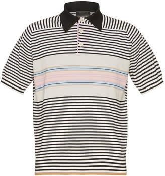 Prada Striped Wool Polo