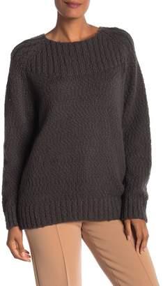 Vince Oversized Popcorn Ribbed Yoke Sweater
