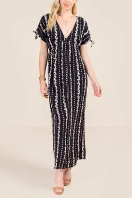 francesca's Alexis Floral Maxi Dress - Black