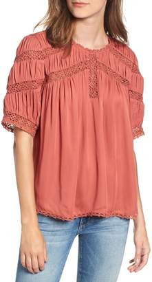Hinge Gathered Lace Top