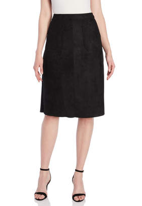 Catherine Malandrino Faux Suede A-Line Skirt