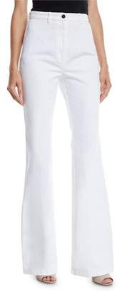 Michael Kors High-Waist Flare-Leg Denim Pants