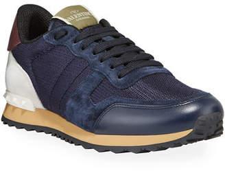 Valentino Men's Rockrunner Solid Trainer Sneakers
