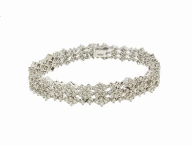 A.Link Triple Row Diamond Bracelet