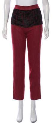 Cacharel Striped Straight-Leg Pants Red Striped Straight-Leg Pants