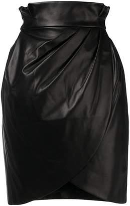 Versace high-waist wrap skirt
