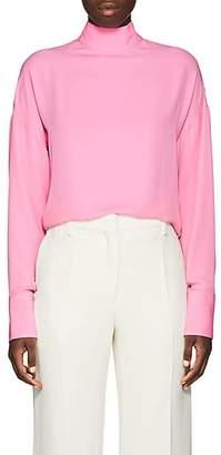 Valentino Women's High-Neck Silk Blouse - Pink