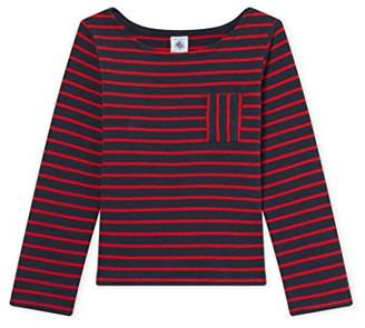 Petit Bateau Girl's Mariniere SMO/Fr Long Sleeve Top,(Manufacturer Size:5A 5Ans)
