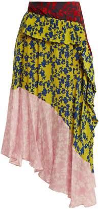 Preen Line Isabella asymmetric tiered skirt