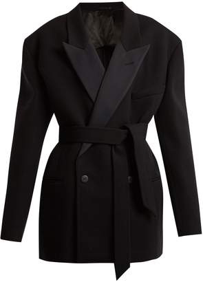 Raey Exaggerated shoulder wool-blend tux jacket