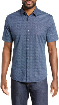 Zachary Prell Siddiqui Regular Fit Print Shirt