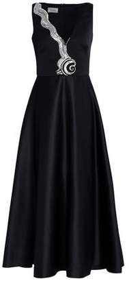 Temperley London Tulle-Paneled Embellished Duchesse-Satin Gown