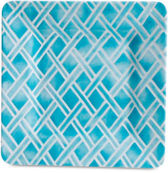Laurie Gates Closeout! Blue Geo Square Dinner Plate, First at Macy's