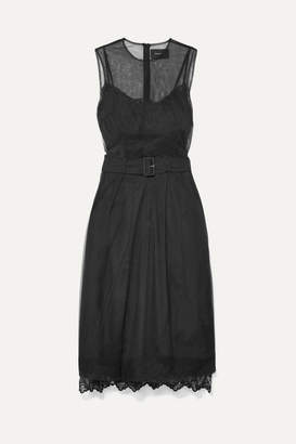 Simone Rocha Belted Tulle Midi Dress - Black