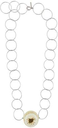 Marni ring plate necklace
