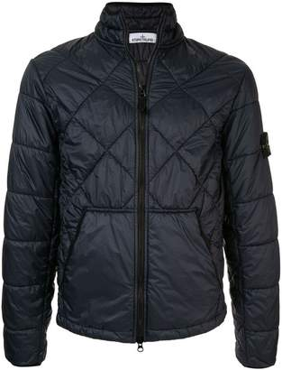 Stone Island quilted high neck jacket