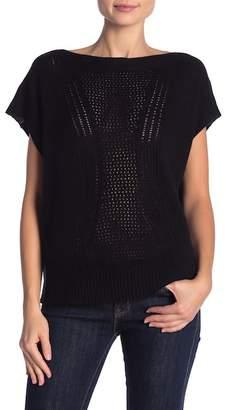 Inhabit Cashmere & Linen Blend Short Sleeve Pullover