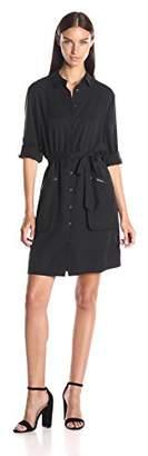 ATM Anthony Thomas Melillo Women's Belted Shirt Dress