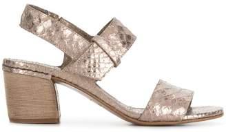 Del Carlo 10119 snake embossed sandals