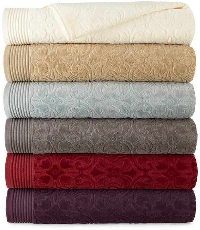 ROYAL VELVET Royal Velvet Verona Sculpted Bath Towel Collection