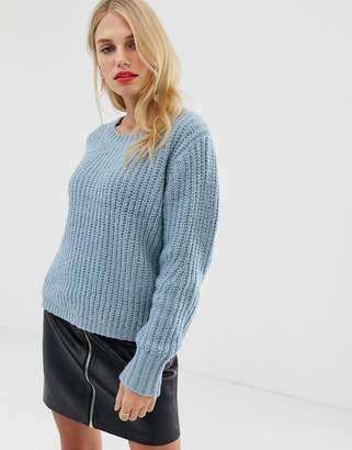 Pieces wide knit jumper