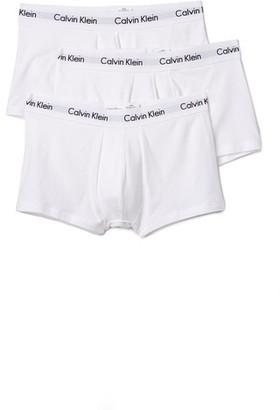 Calvin Klein Underwear Cotton Stretch 3 Pack Low Rise Trunks $42.50 thestylecure.com