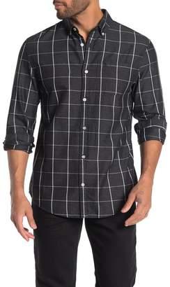 Original Penguin Long Sleeve Jasper Windowpane Print Shirt