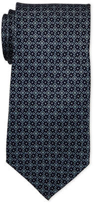 Pierre Cardin Medallion Print Silk Tie