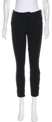 Mother Suede Mid-Rise Pants