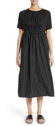 Moncler Abito Shirred Midi Dress