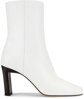 Wandler Isa Boots in Cyber White & Black | FWRD