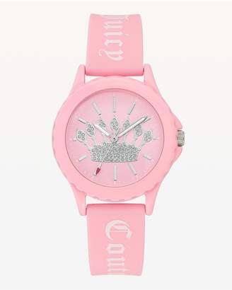 Juicy Couture Crown Pink Silicone Watch