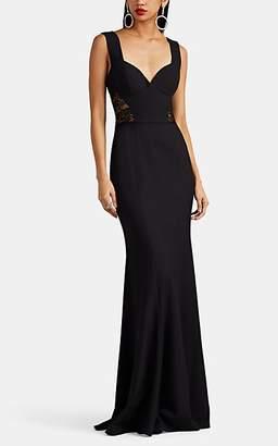 Sophia Kah Women's Floral-Lace-Inset Crepe Gown - Black