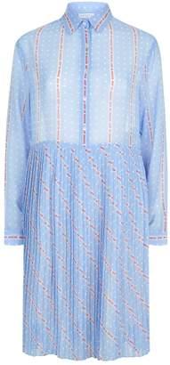 Sandro Pleated Shirt Dress