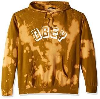Obey Men's New World Bleached Hooded Sweatshirt