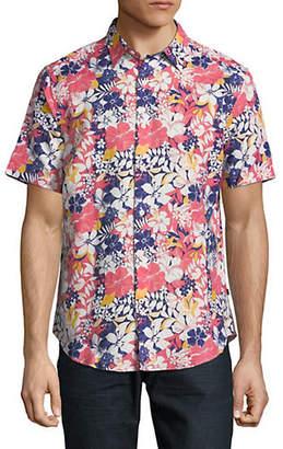 Nautica Short-Sleeve Floral Sport Shirt