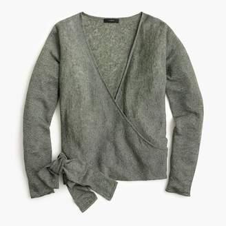 J.Crew Linen wrapped cardigan sweater