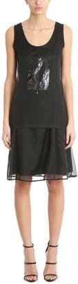 Neil Barrett Black Tulle And Silk Dress