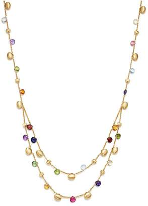 Marco Bicego 18K Yellow Gold Paradise Teardrop Two Strand Gemstone Necklace