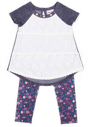 Little Lass 2-pc. Short Sleeve Tunic Legging Set Baby Girls